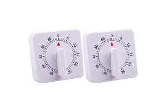 2x Appetito Analogue Mechanical 60min Cooking Kitchen Timer Magnetic Standing