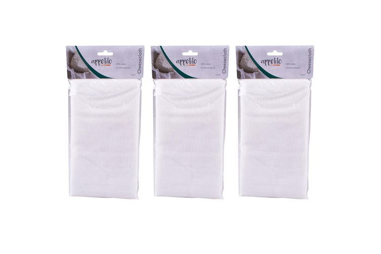 3x Appetito 2.5m Kitchen Cheesecloth Straining Food Cheese Strainer Cloth Cotton