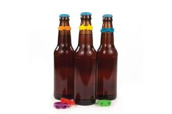 Set of 6 Beernoculars Drink Bottle Markers Silicone Beer Glass Identifier Label