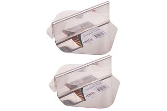 2x Appetito Stainless Steel Sandwich Toast Bread Slicing Cutting Guide Guard