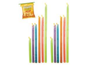Appetito Set of 12 Slide & Store Bag Sealers Reusable Food Keeper Storage Clips