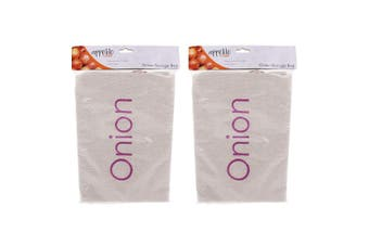 2PK Appetito Onion Food Bag Kitchen Pantry Fabric Drawstring Storage Organiser