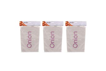 3PK Appetito Onion Food Bag Kitchen Pantry Fabric Drawstring Storage Organiser