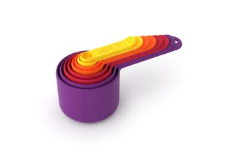 8pc Joseph Joseph Nest Measure Kitchen Measuring Cups Spoons Set  Multicoloured