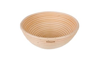 Bakemaster 22cm Round Rattan Loaf Proving Basket Rising Proofing Bread Dough