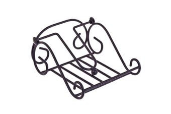 Entree 17.5cm Scroll Kitchen Table Napkin Serviette Holder Storage Stand Black