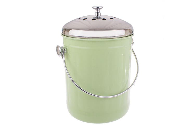 Appetito 5L Compost Food Waste Scrap Trash Kitchen Veggie Canister Bin Green