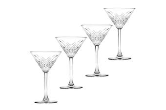 4pc Pasabahce Timeless 230ml Clear Martini Glasses Alcohol Party Cocktail Glass