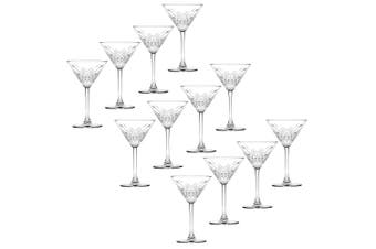 12pc Pasabahce Timeless 230ml Clear Martini Glasses Alcohol Party Cocktail Glass