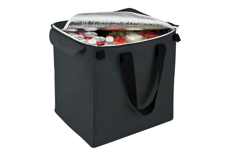 Shop & Go Insulated Bag Grocery Storage for Shopping Cart Trolley Basket Black