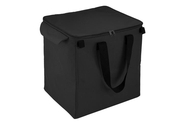2PK Shop & Go Insulated Bag Grocery Storage for Shopping Cart Trolley Basket BLK