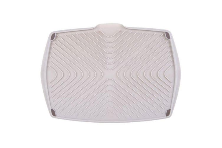 Appetito 42.5cm Double Sided Kitchen Plates Dish Draining Board Holder Rack Grey