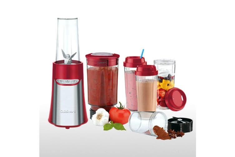 Cuisinart CPB-300RA Portable Blender Chopper System Juicer Mixer Smoothie Red