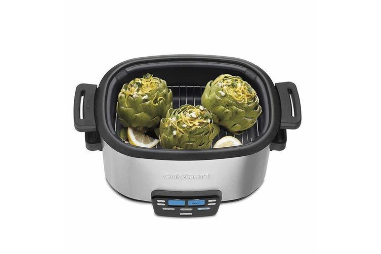 Cuisinart MSC-600A 5.7L Electric 3 in 1 Multi Slow Fast Cooker w Steaming Rack