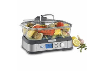 Cuisinart STM-1000A 5L Cookfresh Digital Electric Glass Steamer w  Tray Timer