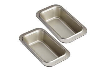 2x Anolon 23x12cm Carbon Steel Ceramic Reinforced Loaf Pan Bread Baking Dish