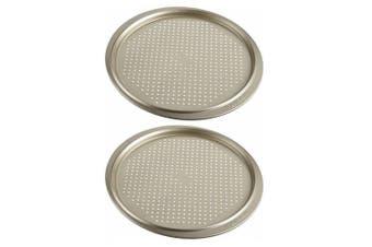 2x Anolon Ceramic Reinforced Carbon Steel 33cm Crisper Baking Tray Oven Bakeware
