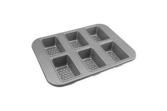 RACO Aerolift 6 Cup Non Stick Mini Loaf Pan Baking Tin Tray Mould Bake Mold Grey