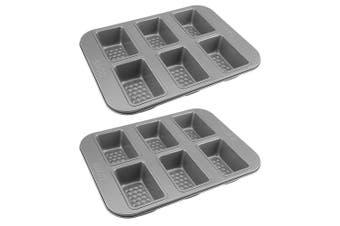 2PK RACO Aerolift 6 Cup Non Stick Mini Loaf Pan Baking Tin Tray Mould Bake Mold