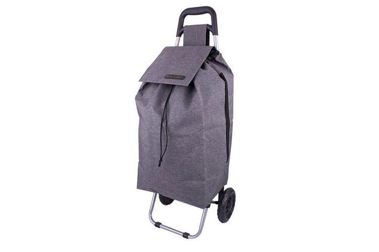 Shop & Go Sprint Grocery Shopping Trolley Portable Bag Wheels Charcoal Grey
