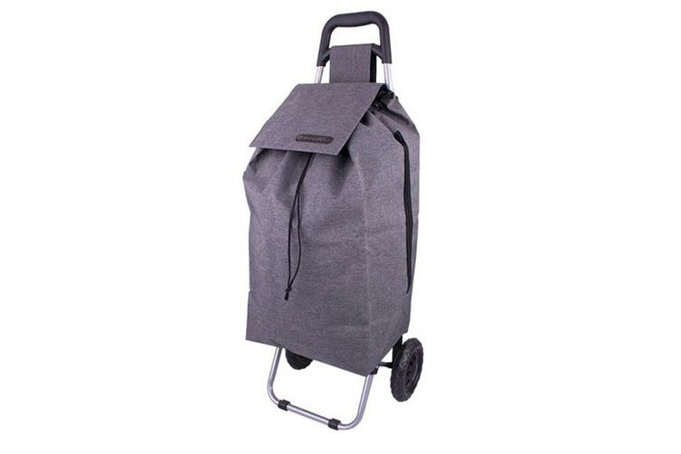 2PK Shop & Go Sprint Grocery Shopping Trolley Portable Bag Wheels Charcoal Grey