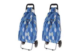 Shop Go 12kg Sprint Shopping Trolley Grocery Food Bag Cart Storage 2 Wheels Leav