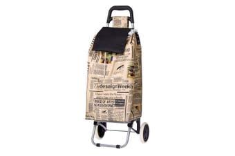 D.Line 12kg Sprint Shopping Trolley Grocery Food Bag Storage Wheels Newspaper