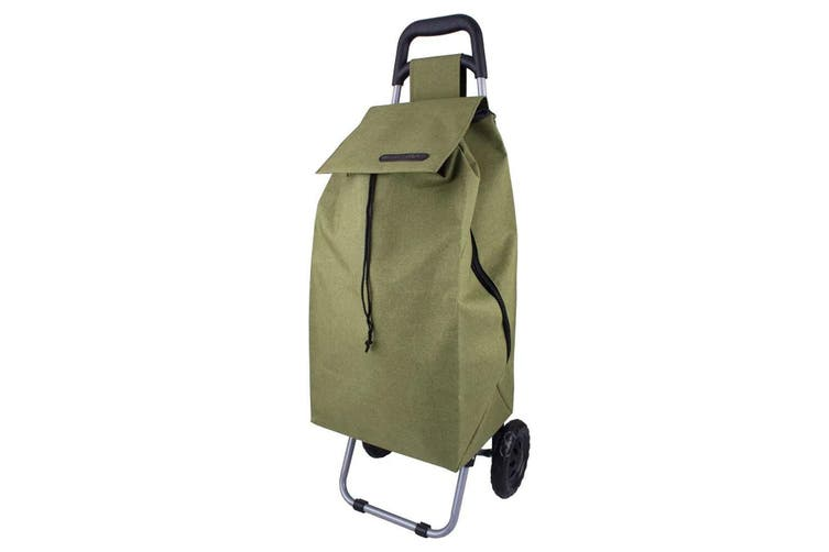 Shop & Go Sprint Grocery Shopping Trolley Portable Bag Wheels Stand Sage Green