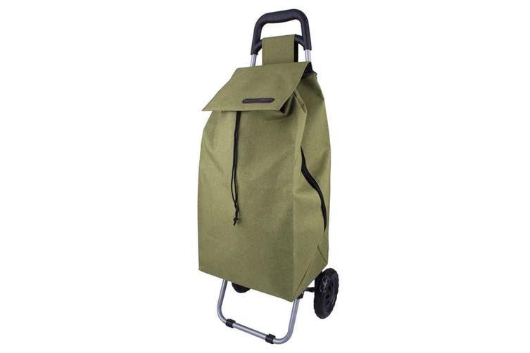 2PK Shop & Go Sprint Grocery Shopping Trolley Portable Bag Wheels Sage Green