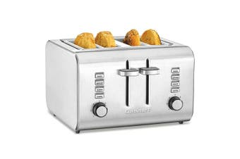 Cuisinart CPT-10 4-Slice Bread Bagel Toaster Heat Cancel Defrost Stainless Steel