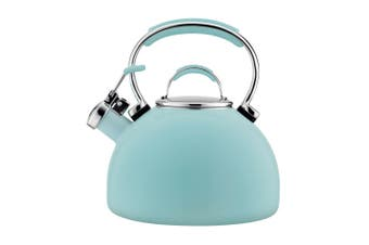 Essteele 1.9L Porcelain Enamel Whistling Kettle for All Stove Top Induction BLU