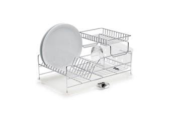 Salt & Pepper Sublime 50cm Stackable Iron Plates Mugs Dish Drying Rack Chrome