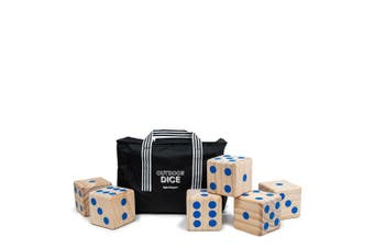 6pc Salt & Pepper Large Giant Outdoor Patio Dice Game Kids Family Number Fun