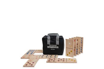 28pc Salt & Pepper Large Giant Dominos Game Outdoor Kids Family Fun