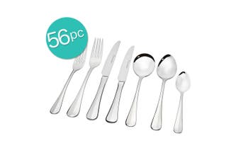 56pc Stanley Rogers Baguette Table Cutlery Set Stainless Steel Knife Fork Spoons