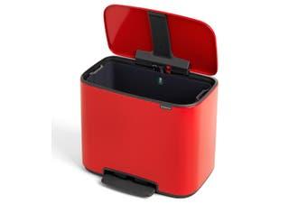 Brabantia BO Pedal Kitchen Bucket Rubbish Garbage Bin 36L 54cm Passion Red