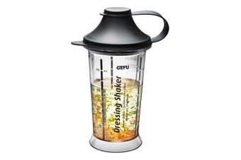 Gefu Mix Up Salad Dressing Shaker Kitchen Food Measuring Bottle Cup Clear Black