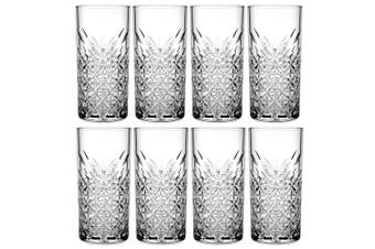 8pc Pasabahce Timeless 450ml Clear Hi Ball Glasses Cocktail Juice Drinks Glass