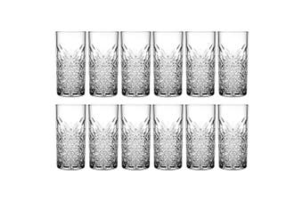 12pc Pasabahce Timeless 450ml Clear Hi Ball Glasses Cocktail Juice Drinks Glass