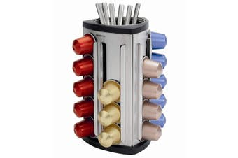 Brabantia Sugar Coffee Teabag Dispenser f  Nespresso Machine Capsules Holds 30pc