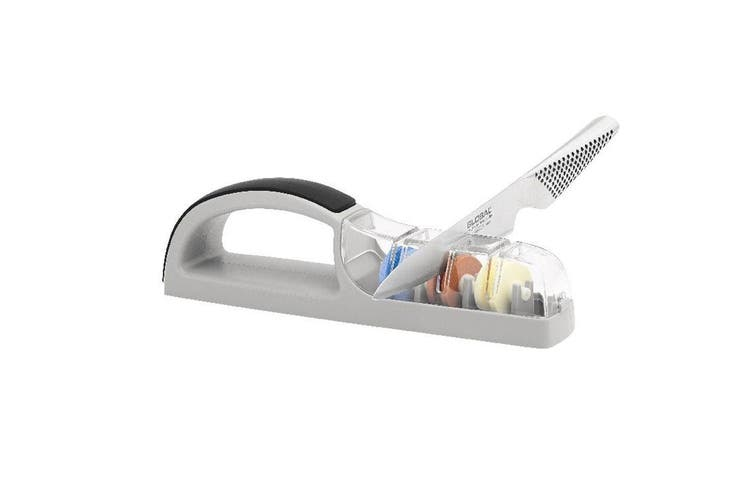 MinoSharp Plus 3 Wheel Ceramic Water Sharpener for Global Knife Knives Cutlery