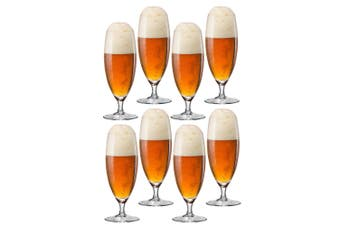 2x 4pc Bohemia 380ml Bar Beer Glass Drink Glassware Barware Set