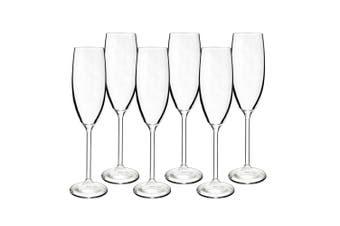 6pc Bohemia 220ml Maxima Crystal Glass Champagne Sparkling Wine Flute Glass Set