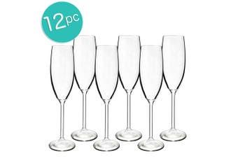 2x 6pc Bohemia 220ml Maxima Crystal Glass Champagne Sparkling Wine Flute Glasses