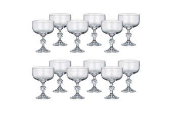 2x 6pc Bohemia Claudia 200ml Cocktail Martini Crystal Clear Glass Set Drinkware