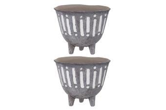 2PK Rogue Zaidan Plant 18cm Pot Ceramic Home Garden Decor f  Artificial Plants