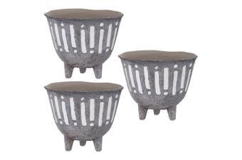 3PK Rogue Zaidan Plant 18cm Pot Ceramic Home Garden Decor f  Artificial Plants