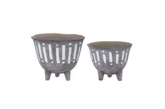 2pc Rogue Zaidan Plant 18cm 15cm Pot Ceramic Home Decor for Artificial Plants
