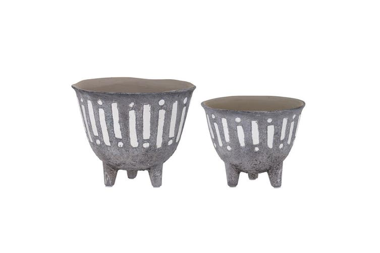 2pc Rogue Zaidan Plant 18cm 15cm Pot Ceramic Home Decor for Artificial Plants