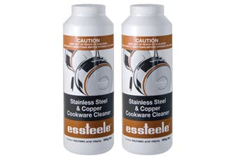 2PK Essteele 495gm Powder Stainless Steel & Copper Cleaner for Kitchen Cookware
